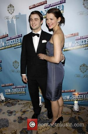 Daniel Radcliffe and Rose Hemingway Opening Night after party for the Broadway musical production of 'How To Succeed In Business...