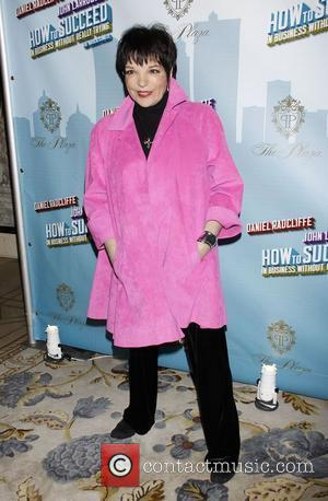 Liza Minnelli wearing Geoffrey Beene Opening Night after party for the Broadway musical production of 'How To Succeed In Business...