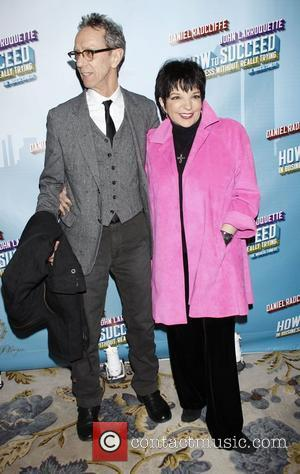 Guest and Liza Minnelli wearing Geoffrey Beene Opening Night after party for the Broadway musical production of 'How To Succeed...