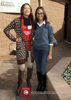 Keisha Whitaker and Zoe Saldana