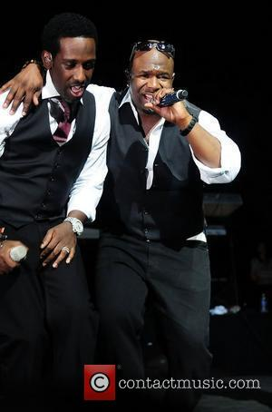 Shawn Stockman and Wanya Morris of Boyz II Men Best of the '90s Concert held at James L. Knight Center...