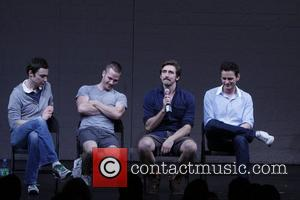 Jim Parsons, Luke Macfarlane, Lee Pace and Wayne Alan Wilcox Post-show talk back with the cast of the Broadway production...