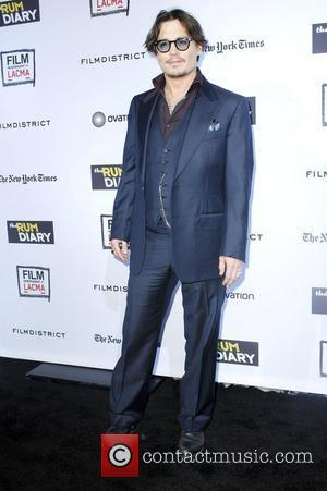Johnny Depp,  at 'The Rum Diary' premiere held at the LACMA Bing Theater - Arrivals Los Angeles, California -...