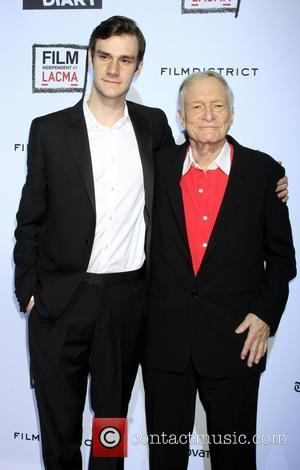 Cooper Hefner and Hugh Hefner 'The Rum Diary' premiere held at the LACMA Bing Theater - Arrivals Los Angeles, California...