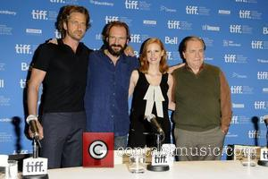 Gerard Butler, Ralph Fiennes, Jessica Chastain and Brian Cox  36th Annual Toronto International Film Festival - 'Coriolanus' press conference...