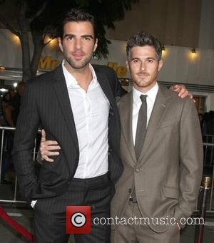Zachary Quinto and Dave Annable The world premiere of 'What's Your Number?' at the Regency Village Theatre - Arrivals Los...