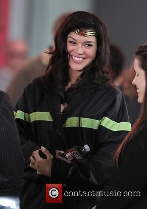 Adrianne Palicki  filming in Hollywood on the set of 'Wonder Woman' Los Angeles, California - 29.03.11