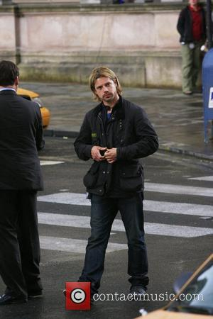 Brad Pitt's stunt man double 'World War Z' filming on location Glasgow, Scotland - 24.08.11