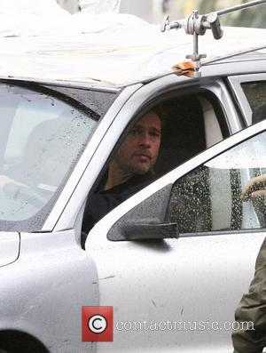 Brad Pitt 'World War Z' filming on location Glasgow, Scotland - 24.08.11