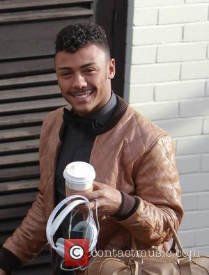 X Factor finalist Marcus Collins arriving at rehearsals London, England - 04.11.11