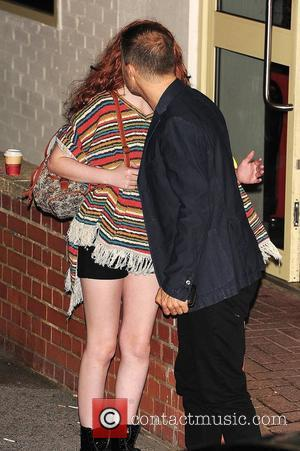 Gary Barlow and Janet Devlin seen outside of X Factor studios after a live show London, England - 30.10.11