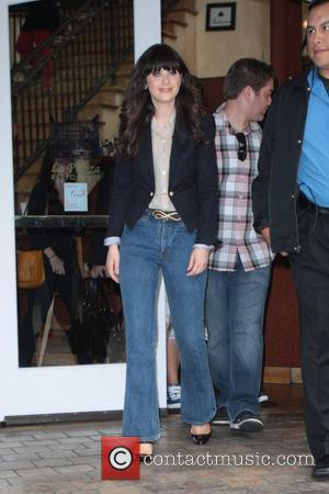 Zooey Deschanel at The Grove to film...