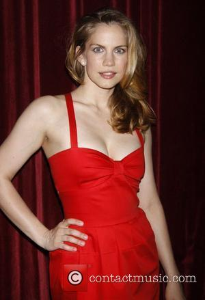 Anna Chlumsky wearing a red Tommy Hilfiger dress at the premiere afterparty for the '3C', held at the Dublin 6...