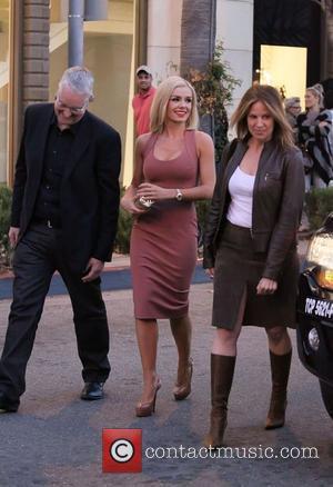 Katherine Jenkins arriving at Jennifer Lopez's new restaurant at The Grove  Los Angeles, California - 05.04.12