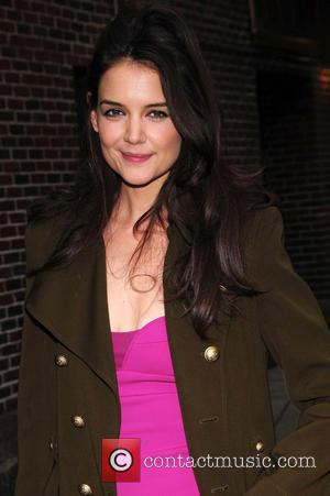 Katie Holmes Talks Forgetting Lines With David Letterman