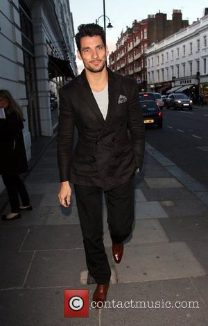 David Gandy attends the launch of the Lion NYC pop up restaurant at the Brompton Club London, England - 26.04.12