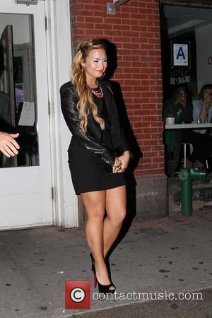 Demi Lovato leaving the ABC Kitchen after dinner New York City, USA - 14.05.12
