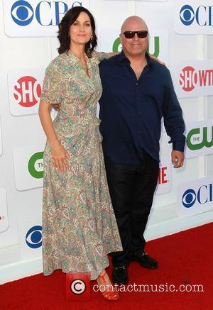 Michael Chiklis and Carrie-Anne Moss CBS Showtime's CW Summer 2012 Press Tour at the Beverly Hilton Hotel - Arrivals Los...