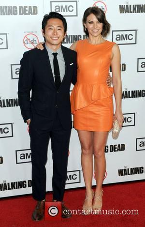 Steven Yeun and Lauren Cohan  Premiere Of AMC's