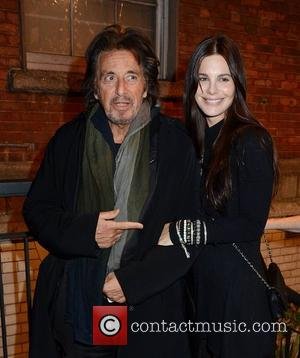 Al Pacino and girlfriend Lucia Sola leave Chapter One restaurant. Dublin, Ireland - 21.02.12