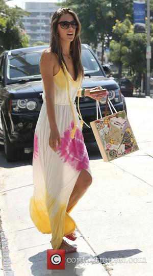 Alessandra Ambrosio out in West Hollywood in a maxi dress Los Angeles, California - 19.09.12