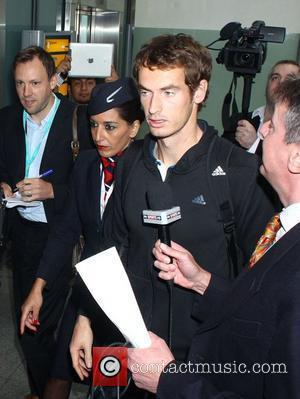 Tennis star Andy Murray arrives back at Heathrow Airport after his US Open grand slam win. London, England - 12.09.12