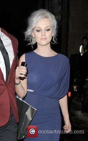 Perrie Edwards from girl group Little Mix, leaving the Attitude Magazine Awards held at One Mayfair London, England - 17.10.12