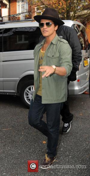 Bruno Mars at the BBC Maida Vale studios  Featuring: Bruno Mars When: 06 Dec 2012