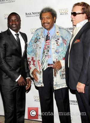Akon, Don King, Mickey Rourke,  at the 'Black November' premiere at the United Nations New York City, USA -...