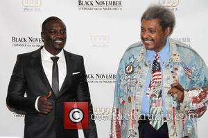 Akon aka Aliaune Damala Badara Akon Thiam and Don King 'Black November' premiere at the United Nations New York City,...