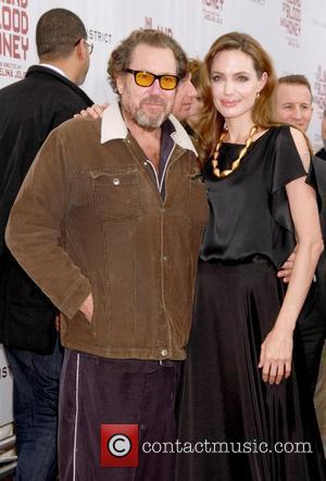 Angelina Jolie and Julian Schnabel Premiere of 'In the Land of Blood and Honey' at the School of Visual Arts...