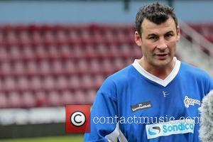 Joe Calzaghe Celebrity Soccer Six match, held at West Ham Football Club grounds in Upton Park London, England - 20.05.12