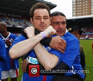Danny Dyer and Tamer Hassan Celebrity Soccer Six match, held at West Ham Football Club grounds in Upton Park London,...
