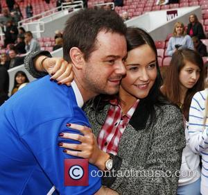 Danny Dyer and Jacqueline Jossa Celebrity Soccer Six match held at West Ham Football Club grounds in Upton Park London,...