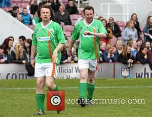 Lee Mack Celebrity Soccer Six match held at West Ham Football Club grounds in Upton Park London, England - 20.05.12