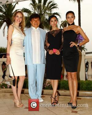 Laura Weissbecker Jackie Chan Yao Xingtong and Zhang Nan Xin  'Chinese Zodiac' photocall during the 65th Cannes Film Festival...