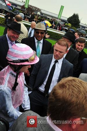 Wayne Rooney May Cup Day held at Chester racecourse Cheshire, England - 09.05.12