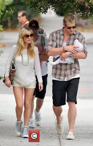 Elsa Pataky, Chris Hemsworth and The Tiny