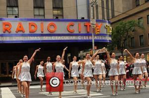 The Rockettes perform their traditional dance routine. The 2012 Radio City Christmas Spectacular presents 'Christmas in August' held at the...