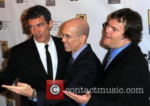 Antonio Banderas, Jack Black, Jeffrey Katzenberg and Caesars Palace