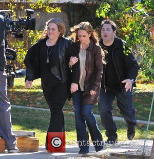 Jennifer Love Hewitt; Greg Grunberg Celebrities laugh it up on the set of 'The Client List'  Featuring: Jennifer Love...