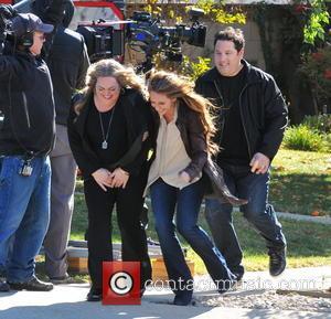 Jennifer Love Hewitt; Greg Grunberg; Rebecca Field Celebrities laugh it up on the set of 'The Client List'  Featuring:...