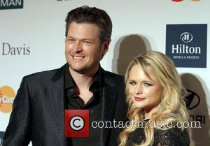 Miranda Lambert, Blake Shelton Clive Davis And The Recording Academy's 2012 Pre-GRAMMY Gala  Held at Beverly Hilton Hotel Los...