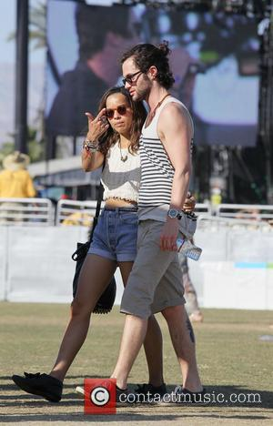 Zoe Kravitz and Penn Badgley  Celebrities at the 2012 Coachella Valley Music and Arts Festival - Week 2 Day...