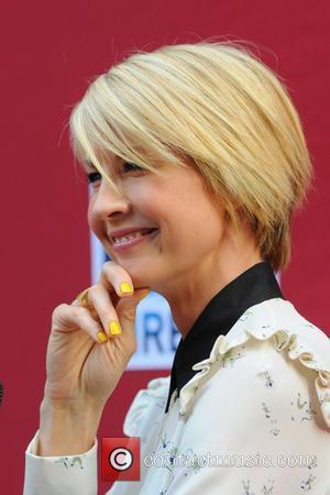 Jenna Elfman,  Damages Season Five Premiere - Red Carpet Arrivals at The Paris Theater New York City, USA -...