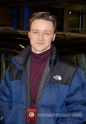James McAvoy on the set of 'Trance' in London London, England - 17.10.12
