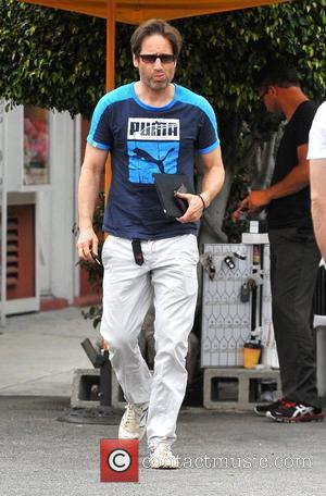David Duchovny leaves a restaurant in Brentwood after having lunch Los Angeles, California - 12.05.12