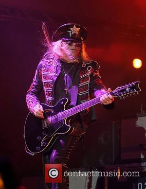 Cheap Trick's Robin Zander performing onstage at the O2 Arena. London, England - 30.11.11