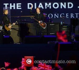 Paul McCartney performs at The Diamond Jubilee Concert at Buckingham Palace. London, England- 04.06.12