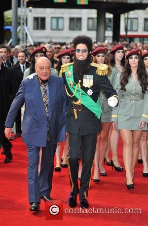 Sacha Baron Cohen, Mohammed Al Fayed and Royal Festival Hall